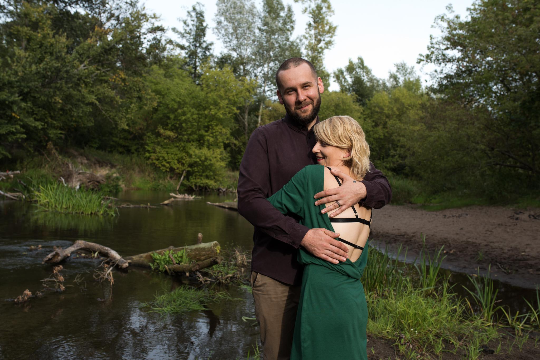 sesja poślubna rzeka